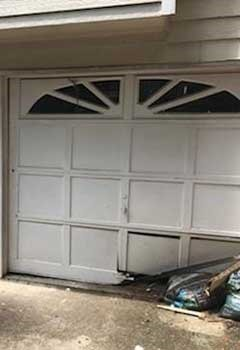 Damaged Panel Replacement For Larchmont Garage Door